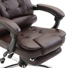 office recliner chair. Football Summer Sale HOMCOM Executive Reclining Office Chair W/ Footrest, PU Leather Recliner S