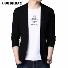 <b>COODRONY T Shirt Men</b> Casual O Neck Long Sleeve Two Piece ...