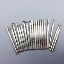 dremel diamond bits. 20pcs/set diamond burrs tungsten rotary tool drill bit grinding head dremel accessories bits