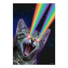 cats shooting lasers out of their eyes. Beautiful Cats Rainbow Laser Cat Poster On Cats Shooting Lasers Out Of Their Eyes S