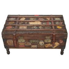 vintage travel trunk coffee table by arthur eymann from