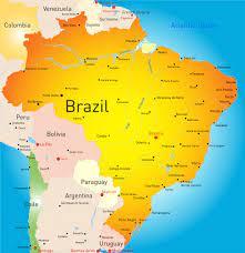 Brezilya'da şehirler haritası - OrangeSmile.com