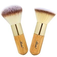 matto bamboo makeup brush set face kabuki 2 pieces foundation and powder makeup brushes for mineral bb cream