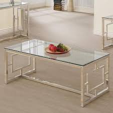 large rectangle glass coffee table