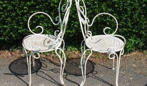 vintage wrought iron garden furniture. [Furniture] Vintage Wrought Iron Patio Chairs Omero Home: G099S Pair French Garden Furniture H