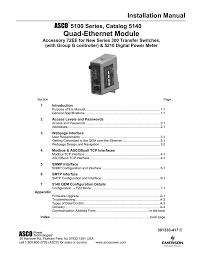 417c Pt Chart Quad Ethernet Module Installation Manual 5100 Series