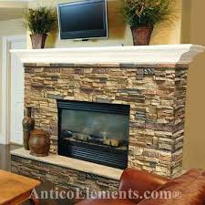 covering fireplace with stone cover up brick fireplace stone