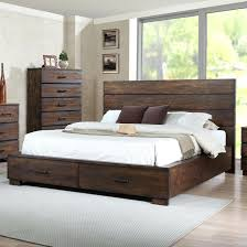 Low Queen Bed Frame With Storage Bed Frame With Drawers King Low Bed ...