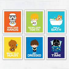 Kids Bathroom Wall Decor Star Wars Kids Bathroom Wall Decor Wash Your Hands Brush