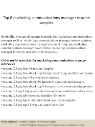 Gallery Of Cover Letter Marketing Manager Experience Resumes Best