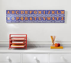 Do you have proper knowledge of this type of language writing system? Radio Alphabet Wall Plaque Pottery Barn Kids