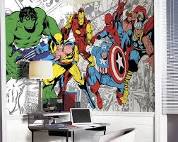 marvel classic character xl mural 6 5 x 10 feet wall sticker outlet on marvel comics mural wall graphic with 180 best party batman superhero images on pinterest superhero
