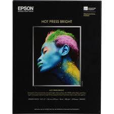 Epson <b>Hot</b> Press Bright <b>Fine Art Paper</b> | B&H Photo Video