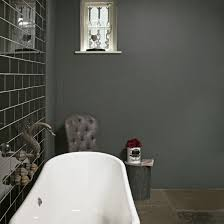 grey metro tile bathroom