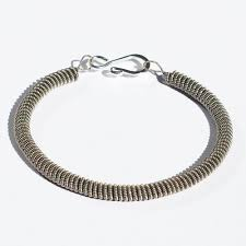 guitar string bracelet silver coiled b string jewelry