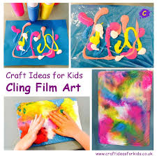 Craft Ideas for Kids - CLING FILM ART posted on July 18, 2014 by Hd