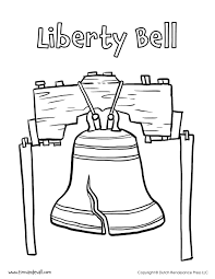 Liberty Bell Coloring Page - Tim's Printables