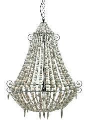 image of creative co op iron wood bead chandelier
