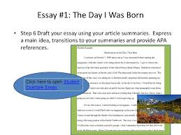 essay the day i was born ppt video online essay 1 the day i was born