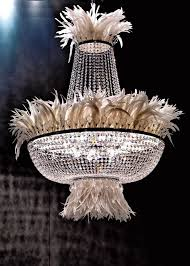 signature collection special order design grand dia crystal feather chandelier by ation
