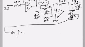 operational amplifier solving diffeial equations problem example