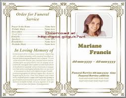Memorial Card Template Free Printable Obituary Templates