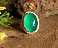 green onyx ring sterling silver handmade artisan jewelry gift ideas at astudio1980