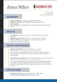 2017 Resume Templates Word