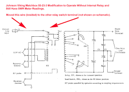 amateur radio station n2awa matchbox relay circuit modification to enable operation out the relay and still obtain swr meter readings while adjusting the tuning and matching