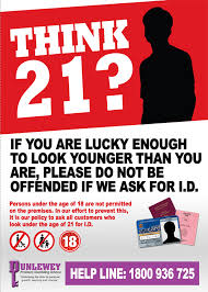 Think Irish - Poster Bookmakers Association Gambling 21 Underage