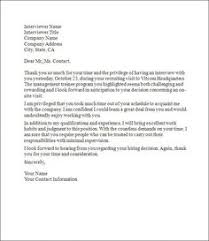 Thank You Letter After Second Interview Resume Template Sample