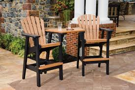 bar height patio set outdoor high top table and chairs sets