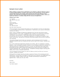 Job Cover Letter Sample Pdf Professional Cover Letter Sample 15