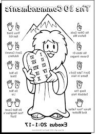 Ten Commandments Coloring Picture Hd Coloringtopiacom Sunday