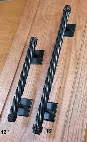 rustler 4 rope style door pull dark bronze powder coat finish barn door pull rustic barn