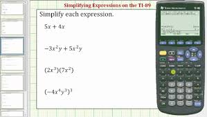 simplifying expressions on the ti 89