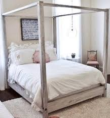 King Distressed Wooden Canopy Bed from Reclaimed by SameAsNever ...