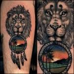 Beach Dream Catchers Lion Beach Dream Catcher tattoo Best Tattoo Ideas Gallery 90