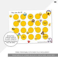 I Can Do It Chart Printable Emoji Incentive Reward Chart Printable Potty Training Chore Chart Poop Emoji Kids Chart