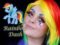 veda 20 my litle pony rainbow dash equestria makeup tutorial maquiagem artÍstica you