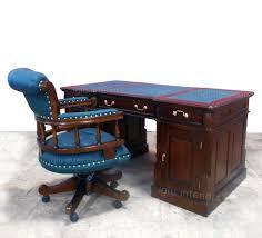 green leather office chair. Large Antique Chesterfield Handmade Walnut Partner Computer Desk \u0026 Green Leather Captains Chair   Cheltenham, Office