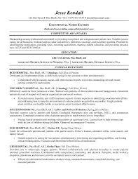 Nurse Extern Resume Cover Letter