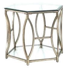 glasetal end tables glasetal end table hexagonal end table square glass metal glasetal end tables