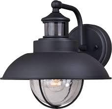 Exterior Photocell Light Fixtures Vaxcel T0262 Harwich Dualux Textured Black Outdoor Motion Sensor W Photocell Wall Lighting Fixture