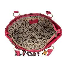 Coach Fashion Logo Large Pink Multi Satchels ELI .
