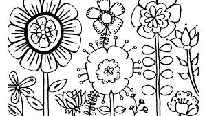 Printable Coloring Flowers Butterfly And Flower Coloring Pages