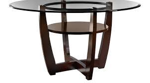 ciara espresso 54 round dining table