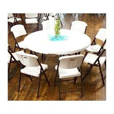 4 round tables chairs set white commercial grade lifetime and sams club