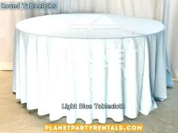 inch round tablecloth light blue for table x seats how to make a 8 with logo