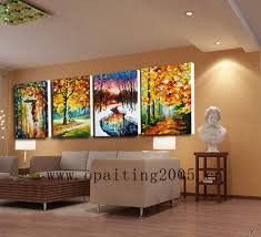 ... Work For Living Room, Hand Painted Picture On Canvas Modern Landscape  Wall Art Painting For Living Room ...